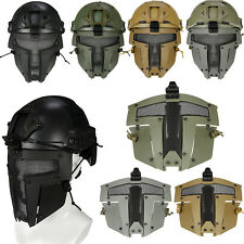 Tactical Airsoft SPT Steel Mesh Full Face Mask Sparta Tactical Mask Helmet Cover