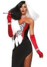 Cruel Diva Costume, Leg Avenue, Cruella De Vil Style Fancy Dress, Halloween 101
