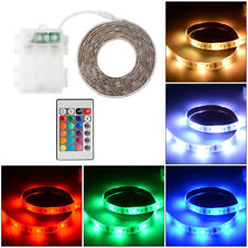 Waterproof 50CM/100CM/200CM Battery Powered RGB LED Strip Light Remote Control