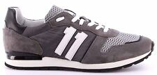 Zapatos Hombres Sneakers BIKKEMBERGS BKE108410 Mant 650 Nylon Suede Grey Black
