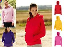 Fruit of the Loom Mujer Sudadera 16 Colores Con Capucha Jersey F409
