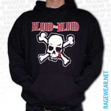 "BLOOD FOR BLOOD ""SKULL""Hoodie, black Hardcore Boston"