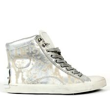 CRIME LONDON SNEAKERS DONNA IN PELLE ARGENTO ART. 21021