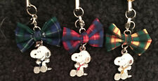 SNOOPY with PLAID BOWS MASCOT/CHARM SET