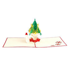 Handcrafted Origami 3D Greeting Christmas Cards Pop Up Card Postcard Birthday