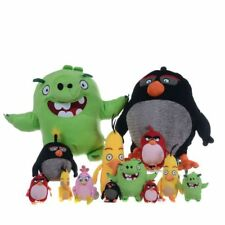 "Angry Birds Plush Toys 8"" Approx, Red Bird, Black Bomb, Yellow Chuck, Green Pig"