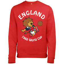 COUPE DU MONDE Willy Mens ANGLETERRE FOOTBALL MASCOTTE 1966 imprimé rétro PULL