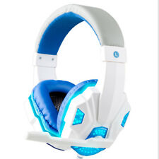 Gaming Headset Headphones with Microphone LED Light Surround Over Ear for PC