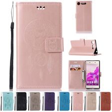 For Sony Xperia XZ1 Compact Magnetic Genuine Leather Card Slot Wallet Case Cover