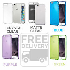 Silicone Soft Protective Slim Case for Apple iPhone 6,6S Green Purple Blue Clear