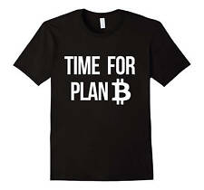 Bitcoin Shirt Time For Plan B, Funny and Nerdy Crypto Currency BTC Bitcoin Mi...