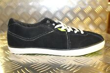 UMBRO Terrace Low Black Suede Vulc Lace Up Trainers Heritage Look 45100U