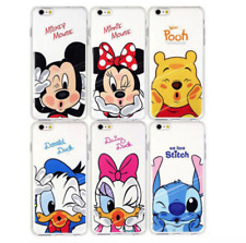 FOR iPhone X 8 7 6s Plus 5 4s Clear Soft Cartoon Case Cover Mickey Minnie Stitch