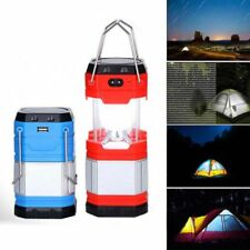 NEW Solar USB Solar Rechargeable Outdoor Camping Tent Lantern Light LED Lamp Red