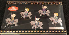SNOOPY & FRIENDS CAROUSEL HORSE PIN SET