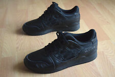 ASICS GEL LYTE III 41 41,5 H534L 9090 ALL BLACK SAGA V Atmos IV Footpatrol