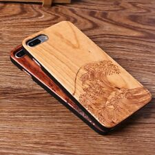 Madera De Cerezo Carcasas de Telefono movil Olas del mar Para Iphone 6/7/8