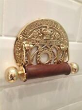 CROWN TOILET ROLL HOLDER SOLID BRASS VINTAGE ANTIQUE 2 STYLES LOO WC BATHROOM