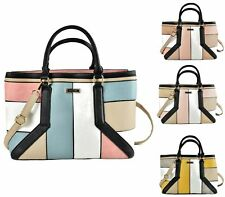 WOMENS LADIES FAUX LEATHER BUCKET PATCHWORK FASHION BOHO TOTE SHOULDER BAG