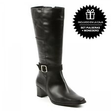 Bota Media Caña Mujer Negro Notting Hill Collection-1340