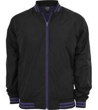 College Jacket Urban Classics Black Purple Thin Lined Nylon Jacket
