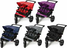 Out 'N' About NIPPER DOUBLE V4 & Rain/Wind Cover Baby Pushchair/Buggy BNIB