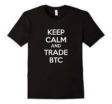 Crypto Currency Shirt Keep Calm and Trade BTC Crypto Trading Bitcoin Mining B...