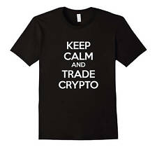 Crypto Currency Shirt Keep Calm and Trade Crypto Trading T Shirt Litecoin, Ri...