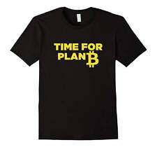 Bitcoin TShirt Time For Plan B Crypto Shirts Day Trading Bitcoin Mining BTC