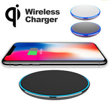 Standard Metal QI Wireless Fast Charging Charger Pad Mat for iPhone X 8 Samsung