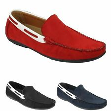 Mens Suede Faux Leather Slip on Loafers Moccasins Smart Casual Driving Shoes