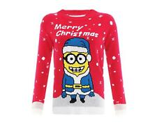 Mens Womens Merry Christmas Minions Jumper Knitted Top Xmas Dave Despicable Me