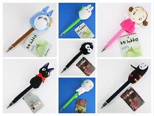 Studio Ghibli Plush Ballpoint Biro Pen Totoro Kiki No Face Spirited Away Dust