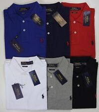 Polo Ralph Lauren Custom Fit Long Sleeve Polo Shirt BLACK WHITE GREY AND INK