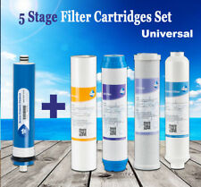 100 GPD 5 Stage Reverse Osmosis Drinking Water System RO Home Purifier FILTERS