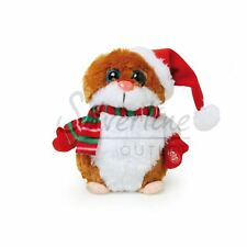 Christmas Fluffy Soft Animated Hamster with Sings Its Your Birthday Toy for Kids