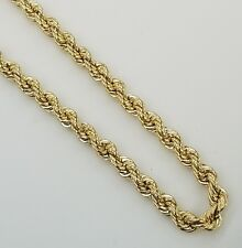 10K Yellow Gold Rope Chain 4mm, 22, 24 and 26 inches