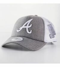 New Era CAMIONISTA Atlanta Braves Grigio pulire berretto Berretto