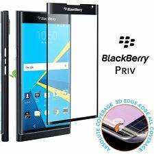 9h 3D Full Screen Covered Edge to Edge Curved Tempered Glass For Blackberry Priv