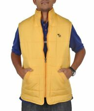 A & F BRANDED HIGH QUALITY REASONABLE PRICE SLEEVELESS YELLOW QUILTED JACKET
