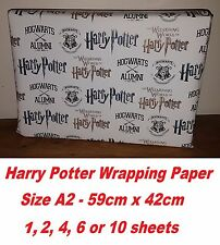 Exclusive Harry Potter A2 Wrapping Paper, Hogwarts Alumni wizard birthday party.