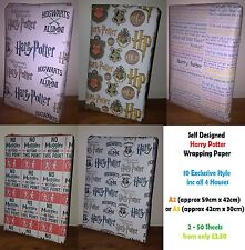 Harry Potter A1/A2/A3 Wrapping Paper * 6 Unique Styles - Birthday Party Houses.