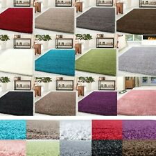 SMALL AND LARGE THICK SOFT SHAGGY RUG BED ROOM RUGS BULKY PLAIN NON SHED CARPET