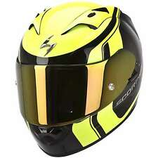 CASCO INTEGRALE MOTO SCORPION EXO 1200 AIR STREAM TOUR FIBRA VETRO AIRFIT GIALLO