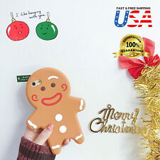 Christmas Gingerbread Man cute soft Silicone Rubber 3D Case For iPhone