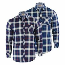 Tokyo Laundry Callaghan Mens Check Shirt Collared Cotton Flannel Casual Top