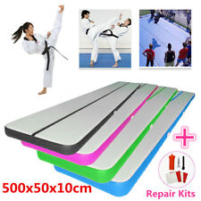 500x50x10cm Gonflable Tapis Gymnastique Air Track Floor Home Tumbling Track Mat