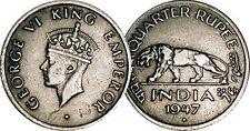 India 1/2 UNA Medio RUPEE MONEDAS 1946 - Indio Asiático