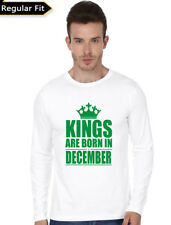 Birthday Special T-Shirt for Men Kings are Born in December 08 (Osiyankart) Gree