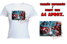 T-SHIRT DONNA CIVIL WAR AMERICA IRONMAN tshirt custom es